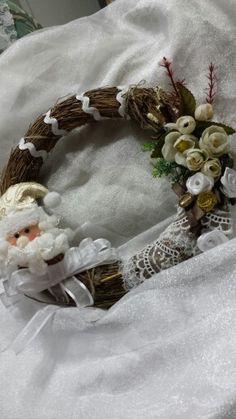 Guirlanda  De♡coração de Natal 2015  Estilo shabby chic com reaproveitamento de materiais by Sandra Dias.Interires