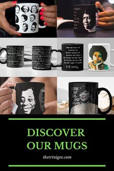 The Trini Gee is a collection of African American gifts that celebrate the multiple layers of black culture and identity. From yogis to foodies, shoppers and coffee lovers, we want black women to feel like queens when they see their beauty represented in our gifts for African American women. Ralph Ellison, Zora Neale Hurston, James Baldwin, Modern Portraits, African American Women, Coffee Lovers, Mug Designs, Black History, Butler