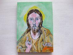 The Savior  Original Oil Painting on Wood by kellygormanartwork, $40.00