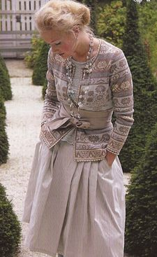 Oleana sweater -- love the muted color combo in this sweater.