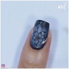 By: @yagala Nail Art Videos, Curtain Bangs, Glitter Nail Art, Nail Art Designs, Gemstone Rings, Make Up, Gemstones, Nails, Hair Styles
