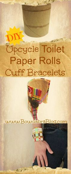 Upcycle Toilet Paper Rolls into Cuff Bracelets