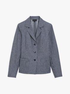 veste rosy bleue et blanche à fines rayures | agnès b. Shirt Dress, Mens Tops, Shirts, Collection, Dresses, Fashion, Stripes, Jacket, Vestidos