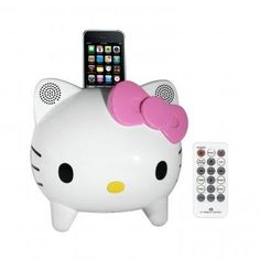 Hello Kitty Stereo Speaker System with Built-in iPhone/iPod Docking Station