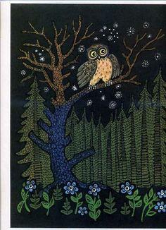 an OWL in a tree    thanks yuri vasnetsov   Tumblr