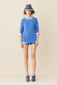 J Crew Spring 2011- hair tucked up in a fedora=lovely