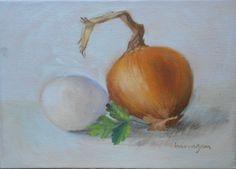 """Uova, Cipolla e Prezzemolo"" (Egg, Onion and Parsley)  Auction/Asta: http://www.ebay.it/itm/Uova-Cipolla-e-Prezzemolo-Egg-Onion-Parsley-dipinto-ad-olio-di-C-Barragan-/160830198301?pt=Quadri=item25723a121d    I like to paint things that I like to eat together. These are the base ingredients for a wonderful frittata!  Mi piace dipingere le cose che mi piace mangiare. Ecco gli ingredienti base per una frittata meravigliosa!"