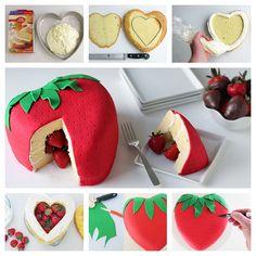 Wonderful DIY  Cute Strawberry  Cake