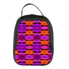 "Neoprene Lunch Bag - ""Tapestry of Purple and Orange"" #food #colorfulbag"