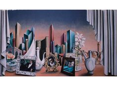Art Deco mural. Hyatt Regency Hotel, Baku, Azerbajhan. Casino mural. See also Clifton Ford Hotel, similar mural painted.