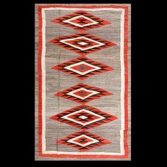"1920's Navajo Rug! 5'9""x 9'3"" SKU# RADR-20581"