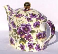 Oval Pansy Chintz Tea Pot