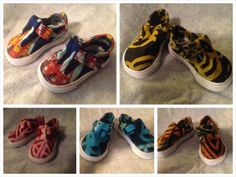 African iprint fabric baby shoes