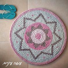 Crochet Rug - Free Crochet Diagram - (slowknit.wordpress)