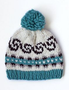 "Fair Isle Knit - ""Seamless! Wave Hat"" (free pattern)"