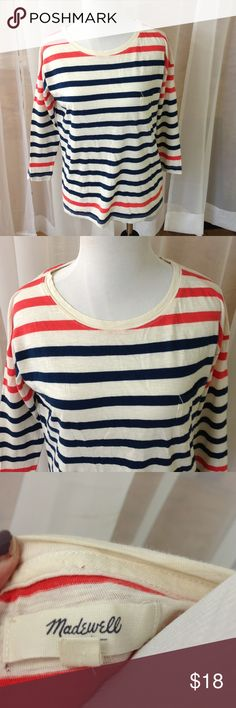 Madewell Striped Top Great condition.  No flaws Madewell Tops