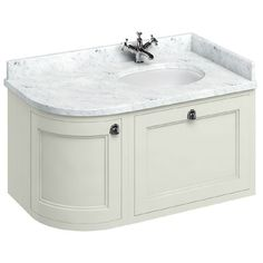Burlington Corner Sink : Burlington Wall Hung 100 Curved Corner Vanity Unit & Minerva Worktop ...