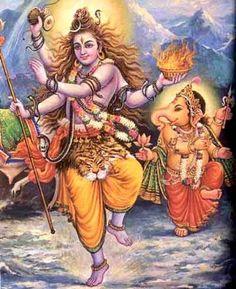 Dancing father & son! Lord Shiva & Lord Ganesha :-)