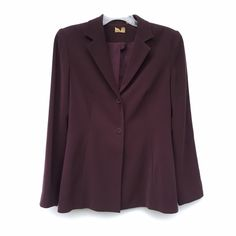 Brown Womens' Blazer Brown professional business blazer. Can be dressed up, or thrown over a simple loose  dress and make it casual. Has padding in shoulders, and two buttons. Collared. Jackets & Coats Blazers