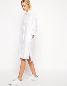 ASOS WHITE Cotton Shirt Dress