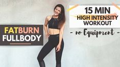 15 MIN H.I.T WORKOUT ohne Geräte - Intensives Power Workout Zuhause // T... Power Workout, Workout Hiit, High Intensity Workout, At Home Workouts, Youtube, Music, Burn Calories Fast, Fatty Acid Metabolism, Musica