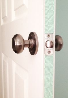 Another use for washi tape: make your doors look fancy! If you have a rental property you can peel the tape right off when it's time to move.
