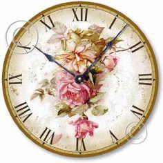 Item C6004 Vintage Victorian Style 10.5 Inch Pink Roses Clock by Fairy Freckles Studios, http://www.amazon.com/dp/B002ZYVV9S/ref=cm_sw_r_pi_dp_uZNqrb07ECRMN