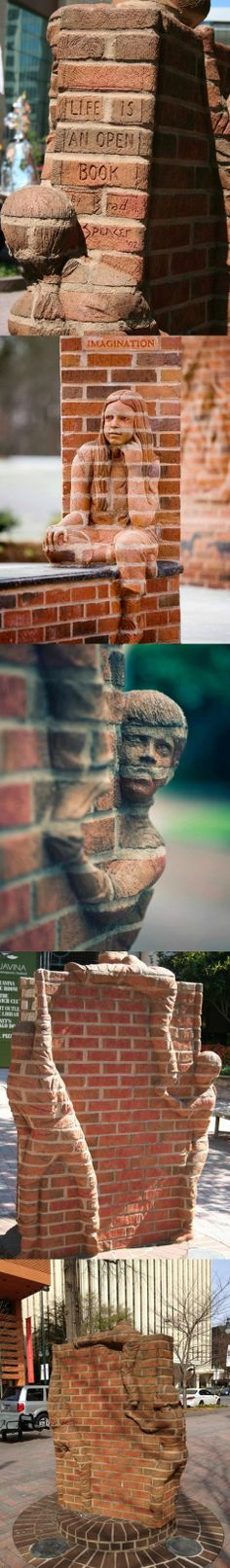 Brick Sculpture by Brad Spencer