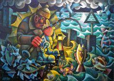 Night Fishing. Mark Sach