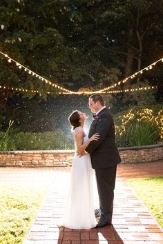 This moonlight shot of Jordan and Ethan was taken at Little Gardens in Lawrenceville, Georgia. We loved getting to take photos of this wedding as it was such a blast and these two are so easy to photograph! Lawrenceville Georgia, Glass French Doors, Little Gardens, Outdoor Ceremony, Be Perfect, Koi, Moonlight, Waterfall, Reception