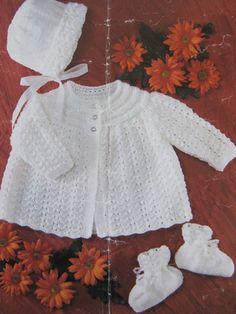 Vintage Baby Pram Set Knitting Pattern Sirdar by lovevintagecrafts #knitting #babyknittingpatterns #vintageknitting