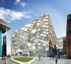 """New Sheffield University building """"the Diamond"""" - the building will be fully operational by academic year 2015/2016."""