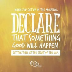 Declare Good day