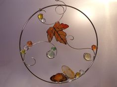 "stained glass suncatcher ""Autumn Ring"" 