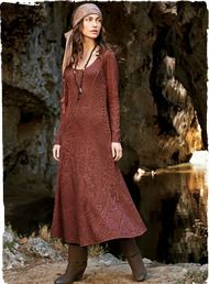 Turn heads in this chic, long-sleeved dress in Rouge pima. Engineered in a fine lace openwork inspired by a baroque Italian textile, with a fit-and-flare silhouette, scoop neck and dramatic trumpet hemline. Slip Dress worn underneath (sold separately).Peruvianconnection.com