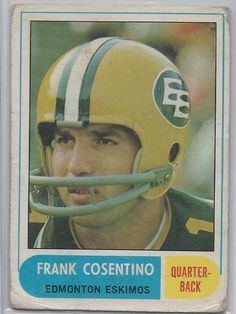 Frank Cosentino Edmonton Eskimos 1968 OPC CFL   107 Fair  EdmontonEskimos 52cdc7fa8
