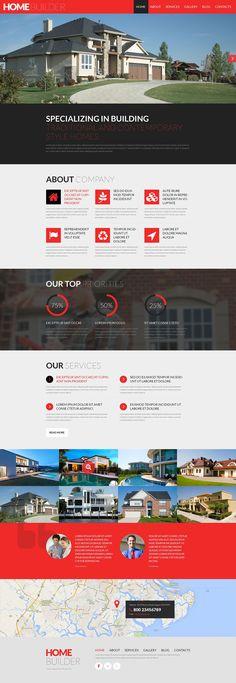 Construction Company #Responsive #WordPress One Page #Parallax Theme #51813
