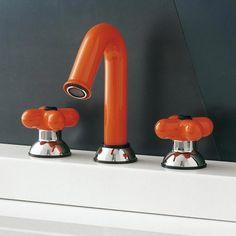 Fantini - Rubinetto I Balocchi | Design: Mercatali - Pedrizzetti | Collezione: I Balocchi | Materiali: Metallo | #design #orange | http://rubinetteria.internicasa.it/