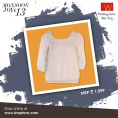The ultimate #fashion mantra: KISS.  Keep It Simple, Silly. Shop online now: www.shopforw.com  #Indianwear #monsoonfashion