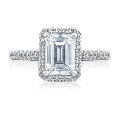 Tacori HT2547EC Petite Crescent Pave Diamond Engagement Bloom Setting ($4,290) ❤ liked on Polyvore featuring jewelry, rings, jrdunn, petite jewelry, pave set diamond ring, tacori, tacori jewelry and tacori rings