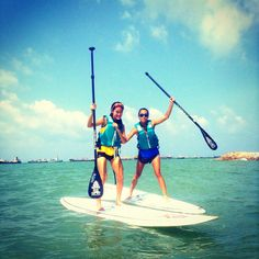 Trying something new in life ! Stand up paddling (: