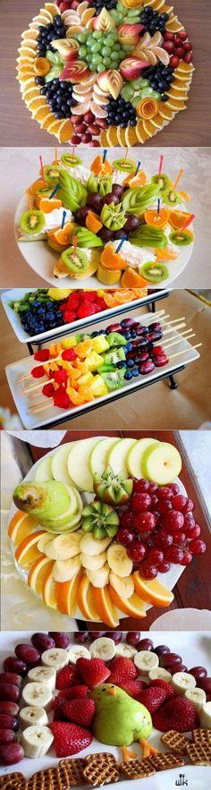 Buffet de fruits - petit déjeuner