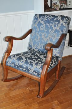 How to reupholster a rocking chair.     http://www.dixiemango.com/2011/03/how-to-reupholster-a-rocking-chair-part-2/