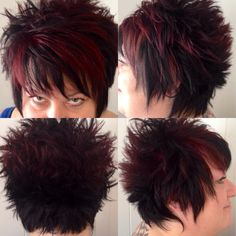 Razored , Textured cut with Goldwell Violets& Reds