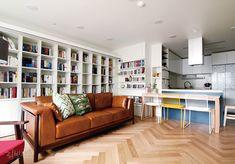 가을이니까… 서재 인테리어 LOOK BOOK : 네이버 매거진캐스트 Bookshelves, Bookcase, Sweet Home, Couch, Living Room, Interior Design, House Styles, Wood, Table