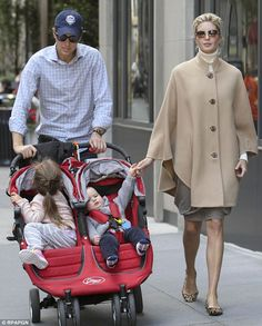 Growing family: The couple live in New York with their brood. They are pictured in October...