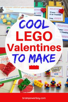 Cool LEGO Valentines To Make (You Won't Want To Miss These!) Do not miss this great collection of Cool LEGO Valentines to Make! These are the best LEGO valentines cards out there and they are a lot of fun to make and give. Lego Valentines, Valentines For Boys, Valentines Day Activities, Valentines Day Party, Valentine Day Crafts, Valentine Cards, Valentine Ideas, Holiday Crafts, Holiday Ideas