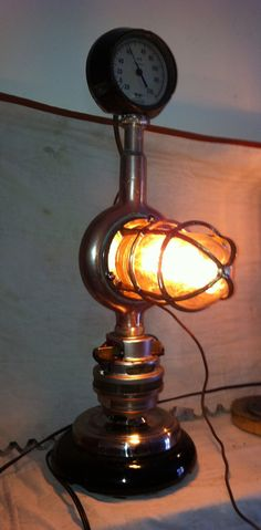 Hey, I found this really awesome Etsy listing at https://www.etsy.com/listing/183788442/steampunk-repurposed-lamp-vintage-and