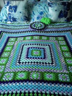 Granny Square Afghan - color inspiration