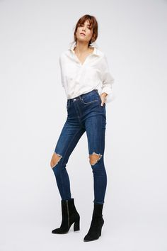 Shop our High Rise Busted Skinny at Free People.com. Share style pics with FP Me, and read & post reviews. Free shipping worldwide - see site for details.